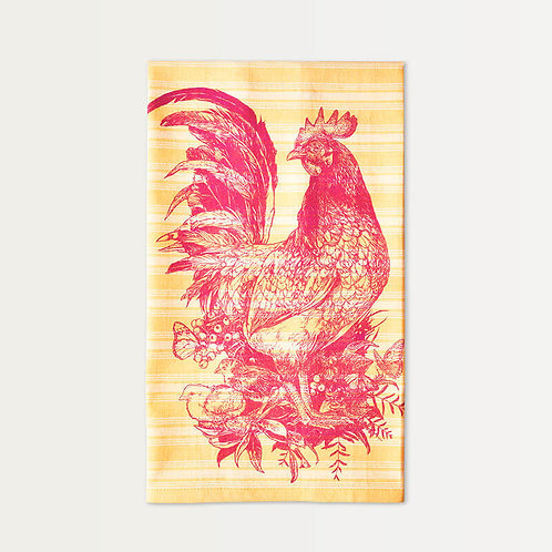 Ruby Rooster Cotton Towel