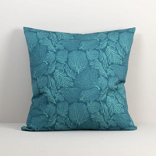 Coral Teal Pillow Cover
