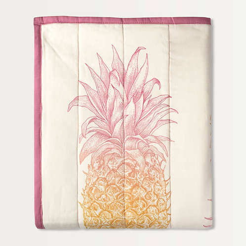 Pineapple Quilted Throw Mini