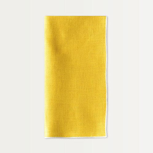 Linen Napkin Set in Lemon Yellow