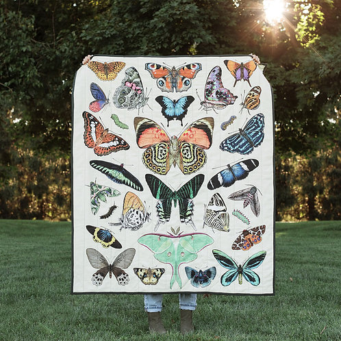 Papillon Quilted Throw