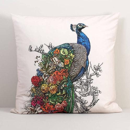 Peacock's Garden Pillow Cover