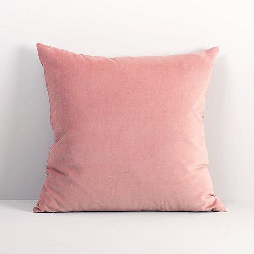 Velvet Square Pillow Cover in Tea Rose