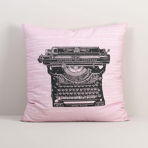 Antique Typewriter Pillow Cover