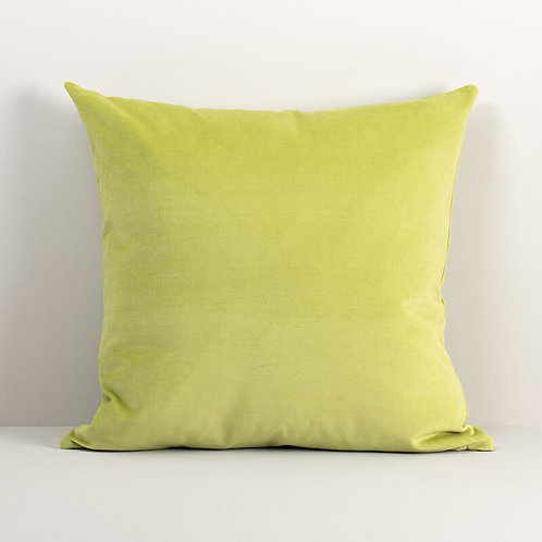 Velvet Square Pillow Cover in Chartreuse