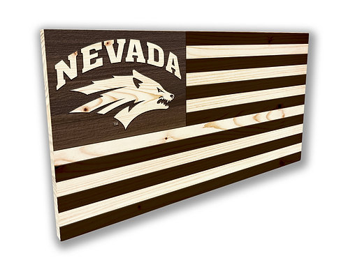 Nevada Wolf Pack Flag - Small