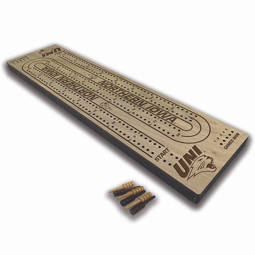 UNI Panthers Wood Cribbage Board