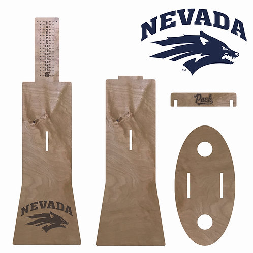 Nevada Wolf Pack Travel Cornhole Scoreboard