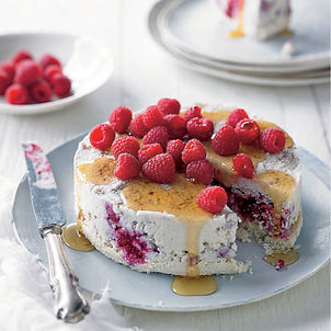 Cauliflower & Raspberry Cheesecake
