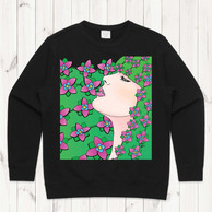 Retro Green and Pink Crew on Doodlewear