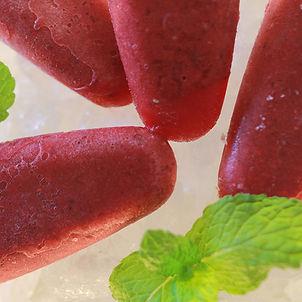 Summer Snacking + Raspberry, Mint, Honey & Chia Ice blocks
