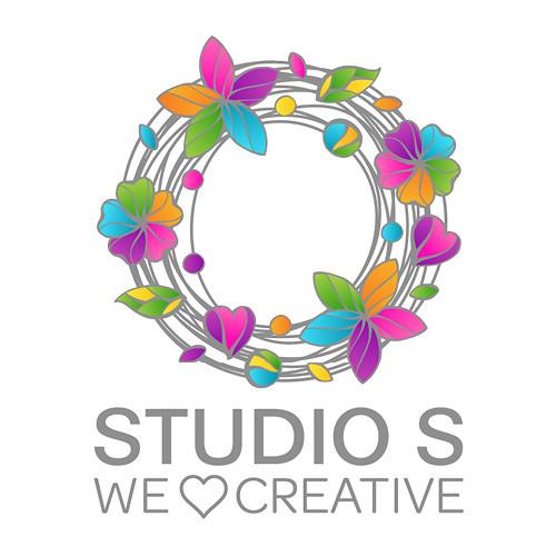 Studio S Logo We Love Creative with Emoticon Heart