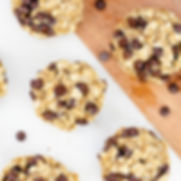 3 Ingredient Banana Oatmeal Chocolate Chip Cookie