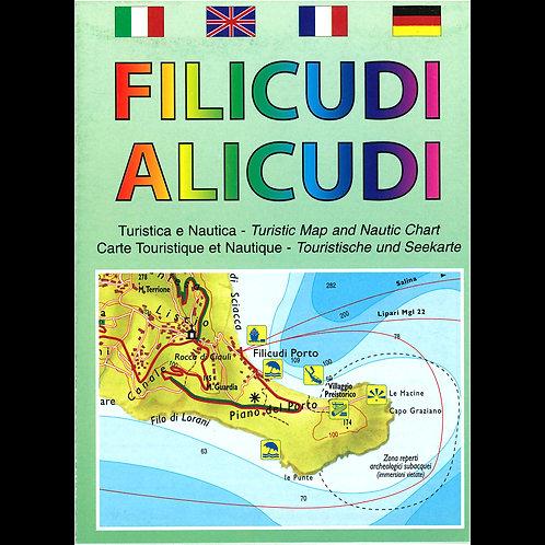 Filicudi, Alicudi - carta turistica e nautica