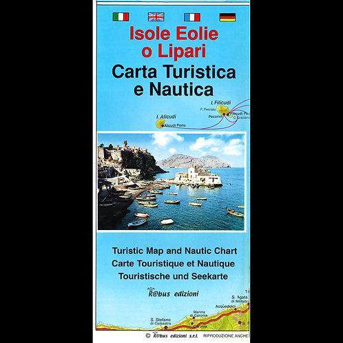 Isole Eolie - carta turistica e nautica