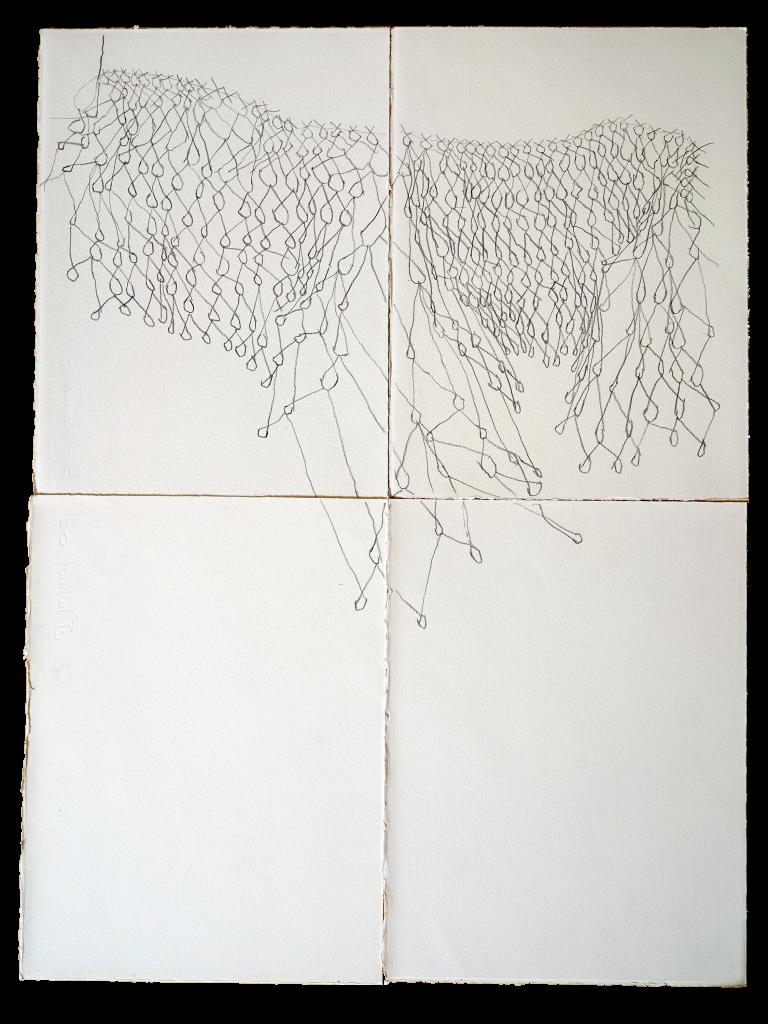 O fazer aéreo III, 2019 lápis grafite sobre papel Fabriano 85 x 65 cm
