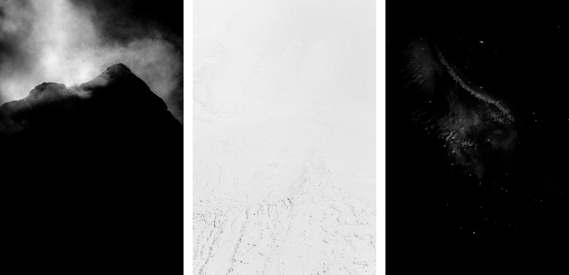 De Magnete (tríptico), 2018 impressão sublimação colado sobre alumínio edição de 7 + 1 PA 45 x 30 cm (cada)