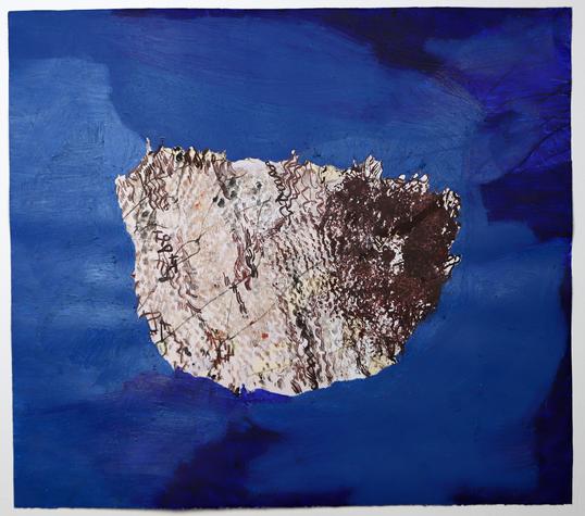 Estudo Velum I, 2020 tinta acrílica, vieux chene e barra de óleo sobre papel Fabriano Rosaspina  70 x 80 cm