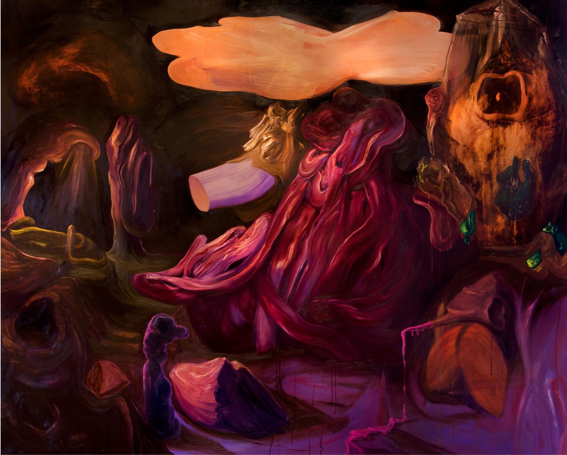 Rotten Rock #2, 2019 óleo sobre tela 154 x 190 cm