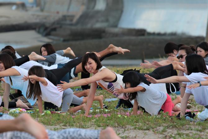 お子様の参加についてbeach yoga