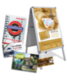 Advertising ABoard, Leaflets, Postcards, Mailers, Billboards, Vouchers, Catalogues