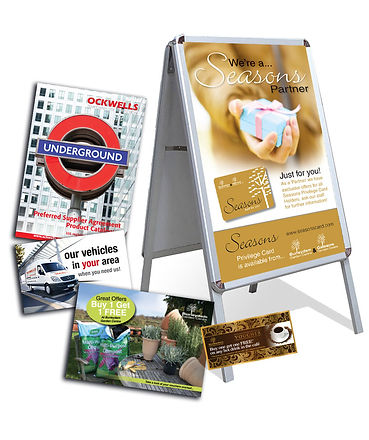 Advertising ABoard, Leaflets, Postcards, Mailers, Billboards, Vouchers, Catalogues
