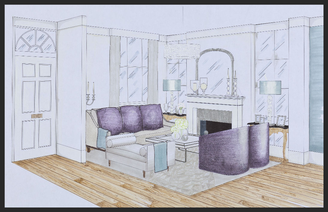Drawing room perspective view