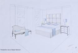 Master bedroom perspective view