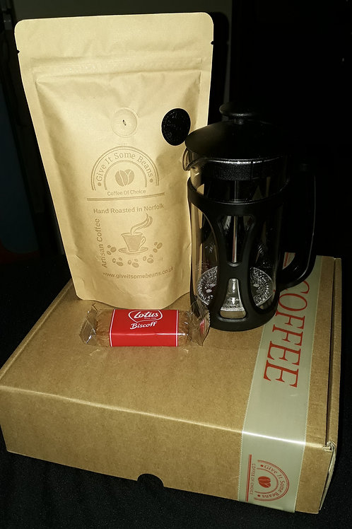 Coffee Gift Set - 125g Coffee & 3 Cup Cafetiere