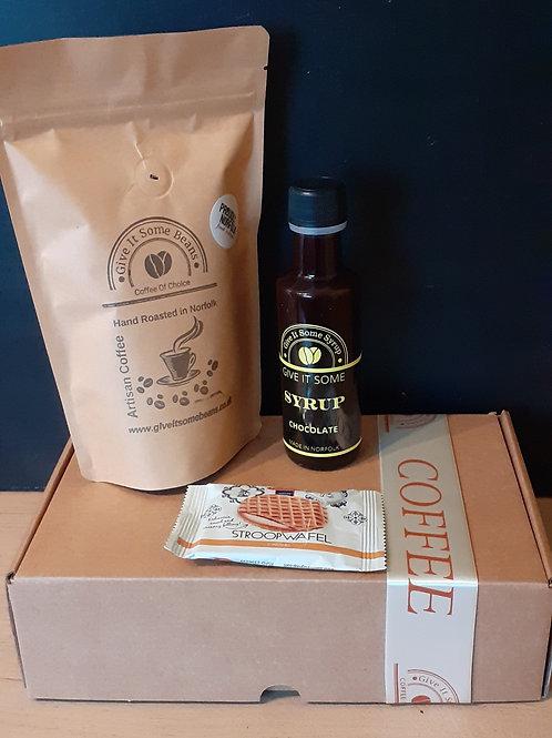 Coffee Gift Set - 125g Coffee, 100ml Coffee Syrup & 1 Stoopwaffle