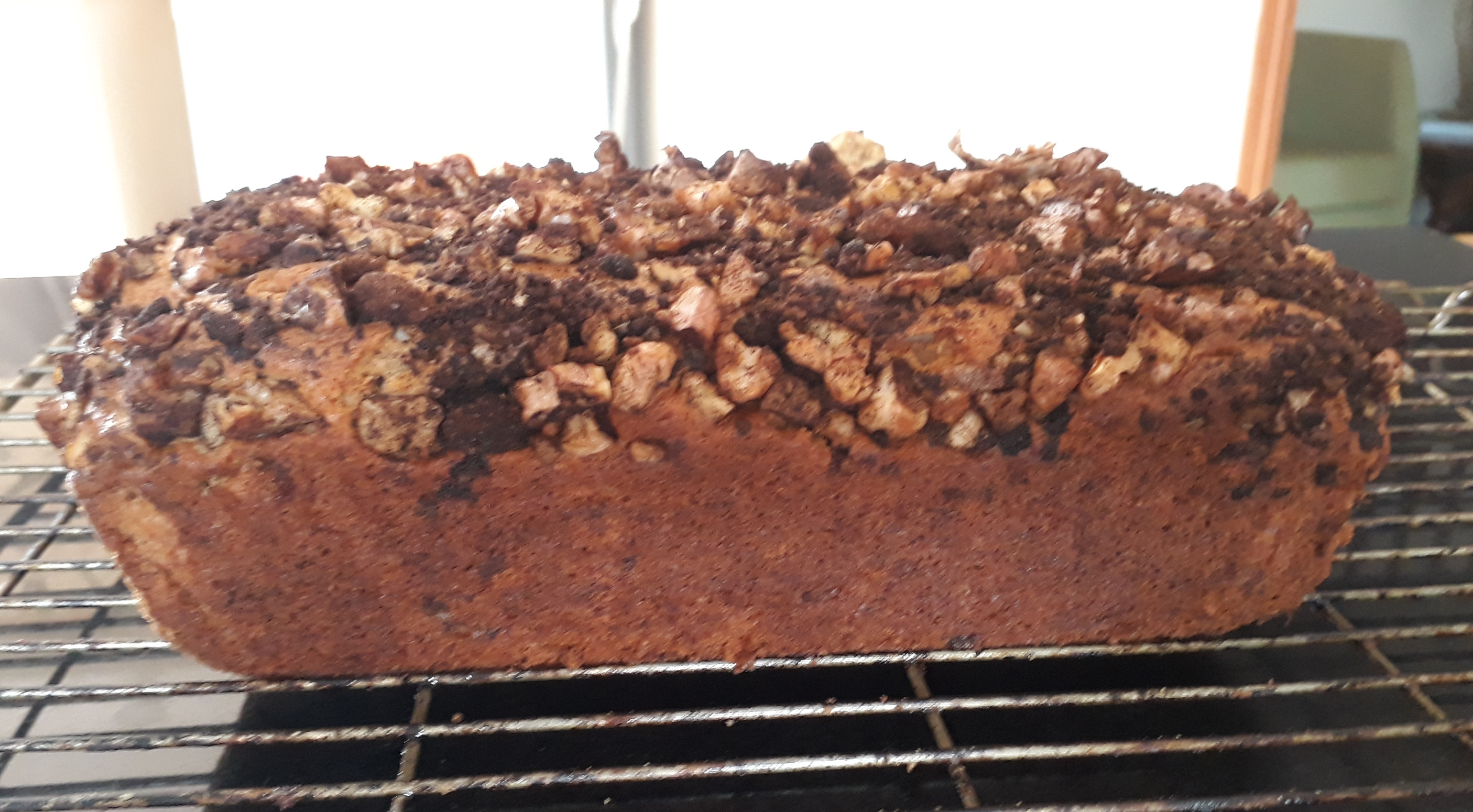 Coffee, Banana and Walnut Cake (Finished