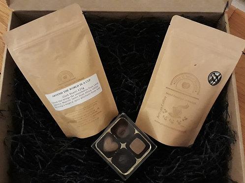Coffee Gift Set 2 x 125g & Box of 4 Choffee Chox