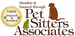 Walks and Whiskers Member & Insured through Pet Sitters Associates