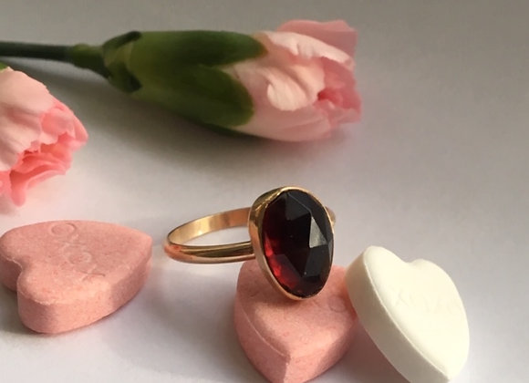 Garnet and Goldfill Ring