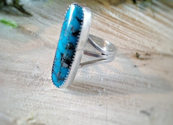 Long Oval Turquoise Ring