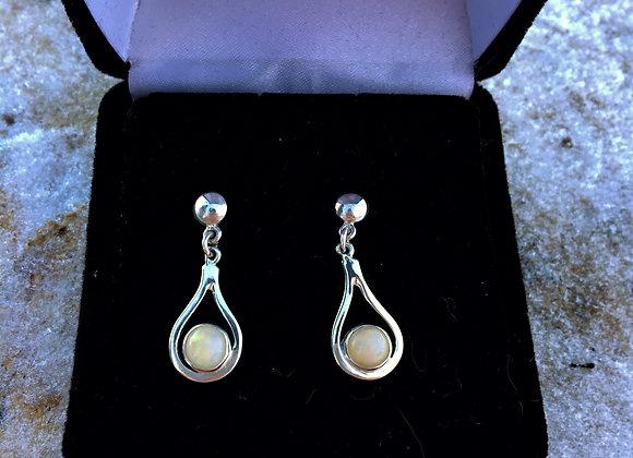 Small opal earrings