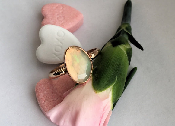 Opal and Goldfill Ring