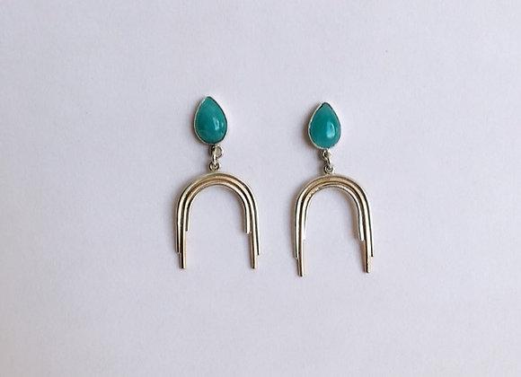 Amazonite Arch Earrings