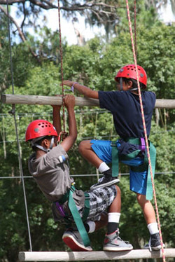 Boys on Ropes Course