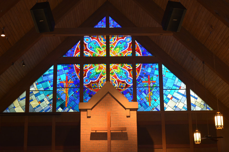Orange Park United Methodist Church Sanctuary Stained Glass