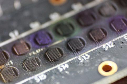 Multi resistor gas sensor.