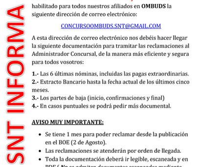 GESTIÓN DE RECLAMACIONES AL ADMINISTRADOR CONCURSAL OMBUDS COMPAÑÍA DE SEGURIDAD, S.A.