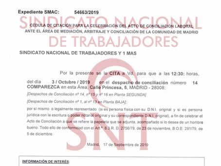 DENUNCIAMOS EL PLAN VACACIONAL PARA 2020, 21 Y 23 EN SEGURISA MADRID