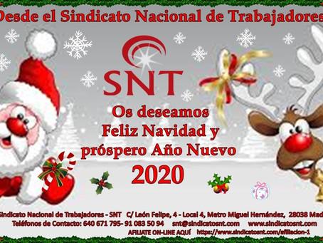 El SNT os desea:  Feliz Navidad y próspero año 2020.