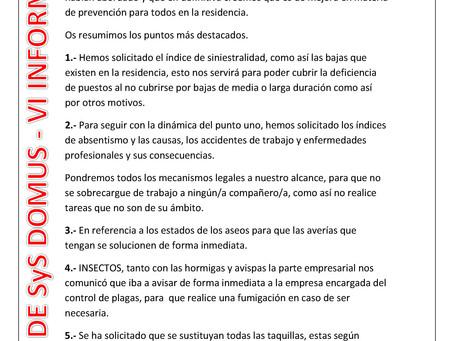 RESUMEN REUNIÓN COMITÉ DE SyS EN DOMUS - VI PARQUE COSLADA