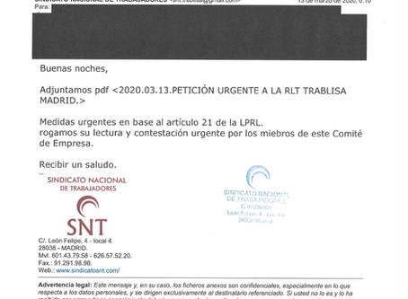 2020.03.13.PETICIÓN URGENTE A LA RLT TRABLISA MADRID.
