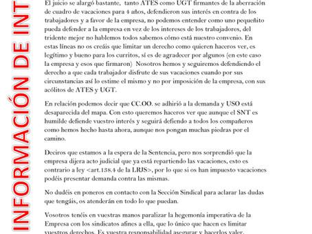 SNT SEGURISA MADRID INFORMA DIC19