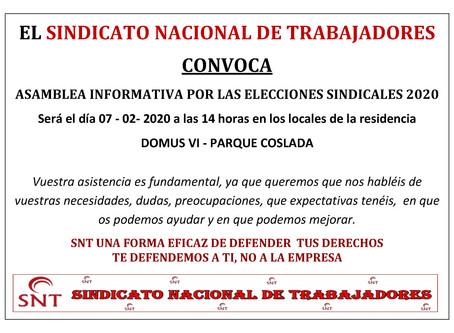 ASAMBLEA DE TRABAJADORES EN LA RESIDENCIA DOMUS VI PARQUE COSLADA MADRID