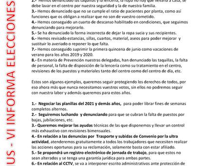 OS PEDIMOS EL VOTO PORQUE EL TRABAJO Y LOS HECHOS NOS AVALAN. RESIDENCIAS DOMUS VI PARQUE COSLADA M