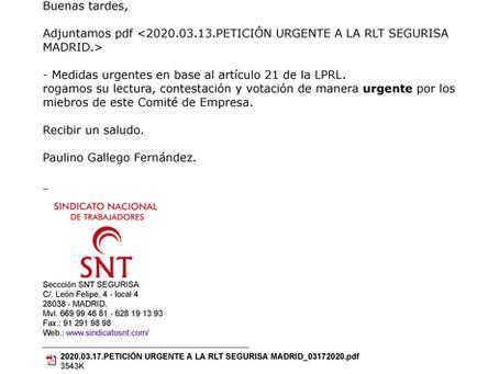 2020.03.17.PETICIÓN URGENTE A LA RLT SEGURISA MADRID_03172020